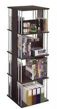 Media Storage Tower Cd Dvd Rack Audio Video Multimedia Organizer Home Furniture