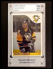 Mario Lemieux 1985 Topps #9 Rookie Graded Gem Mint 10 $400 OBO