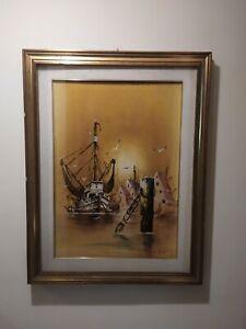 Quadro dipinto olio su tela, firmato dal artista Tarini, anno 1991.