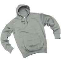 Men's Plain Grey Hoodie Sweatshirt Pullover Hooded Top - 02182T