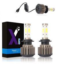COPPIA LAMPADE H7 LED   100W 16000LM   KIT LAMPADINE FARI AUTO 6500K LUCE BIANCA