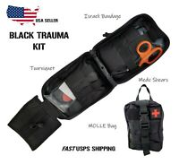 Tactical First Aid Trauma Kit-Molle Pouch, Tourniquet, Israeli Bandage, Shears