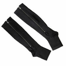 Womens Mens Compression Socks Anti- Fatigue Leg Foot Calf Zip Support Stockings