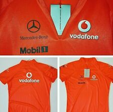 Vodafone McLaren F1 Mercedes Ladies Bright Orange V Neck Athletic Top T-Shirt