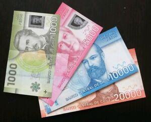 Lot Billets Chili Pesos chilien