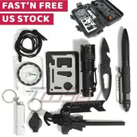 10 In 1 Tactical Survival Outdoor Camping Gear Kit Hiking Emergency EDC Tool Kit