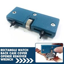 Adjustable Watch Back Case Cover Rectangle Opener Remover Wrench Repair Kit Tool