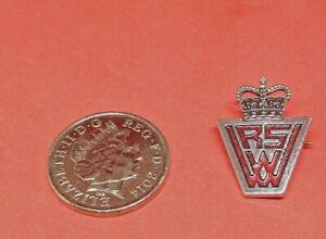 Vintage RSW Crown Pin Badge Maker Marples & Beasley. Free UK Postage