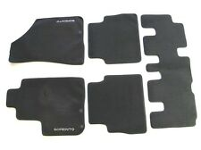 11 12 13 KIA SORENTO BLACK CARPET FLOOR MATS RUGS LINERS OEM GENUINE USED SET #2