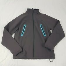 Nike Grey Blue Running Jacket Waterproof Size UK Small Zip Pockets Thumb Holes