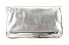 LIEBESKIND BERLIN Metallic Aloe 7V Clutch Umhängetasche Tasche Silber Neu