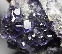 NATURAL Purple.Blue FLUORITE Quartz Crystal Cluster Mineral Specimen/ China