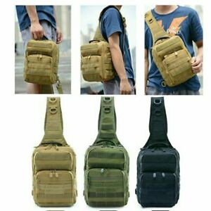 Mens  Chest Pack Military Tactical Shoulder Bag Hiking Hamburg Messenger Bags