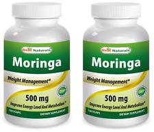Best Naturals Moringa 500 mg 180 Veggie Capsules - Pack of 2 (EXP Date :2020)