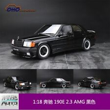 Limited OTTO Mobile 1:18 Scale Mercedes-Benz 190E 2.3 AMG Black Car Model - Used