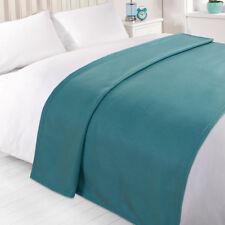 Wholesale 10 X Plain Fleece Blanket Soft Warm BULK Throw Over Joblot - 120 X 150