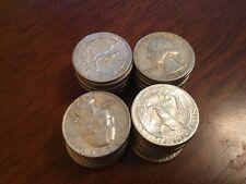 1964 Washington Quarter Roll 40 coins $10 face value 90% Silver