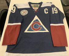 Reebok CCM Colorado Avalanche Joe Sakic #19 Navy Blue 20th Anniversary Jersey 48