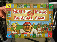 Griddley Headz Baseball Family Board Game 2005~New & Factory Sealed!