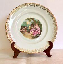 Plato porcelana Santa Clara Vigo con pintura Boucher