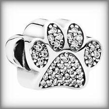 Genuine PANDORA Foot Pave Paw charm Silver S925 ALE 791714CZ