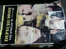 Depeche Mode Singles 81-85 Uk Subway Poster 60 X 40 Vg Edge Tears Folded Vtg Htf