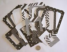 NO 486 SCRAPBOOKING - 16 DIE CUT HEAVY WEIGHT PAPER HEART THEMED PHOTO FRAMES