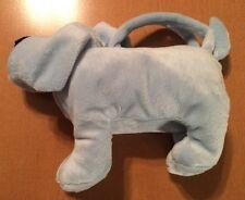 "Light Blue Dog Stuffed Purse  8"""