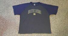 Pro Edge Notre Dame Fighting Irish Men's Size 2XL XXL Shirt Blue Gray