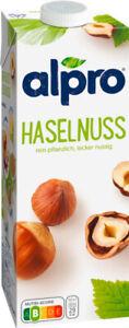 Alpro Haselnussdrink Original, Hazelnut Haselnuss Nuss Drink 8er Flasche (8x1L)