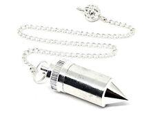 Chamber Pendulum Metal Wish Dowsing Divination Silver Yes No Prediction Tool