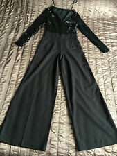 Very clothing cocktail party black sequin jumpsuit playsuit all in 1 uk 8