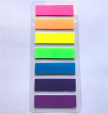 Neon Colored Index Tabs Page Marker Flags Fluorescent Sticky Book Note 140pcs