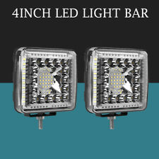 2x 4Inch 770W 4-Side Shooter LED Pod Spot Flood Work Light Offroad 4x4WD Offroad