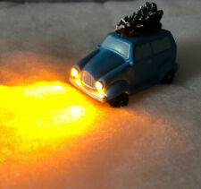 Driving Home for Christmas Festive Blue Car Scene Xmas Decoration Lights