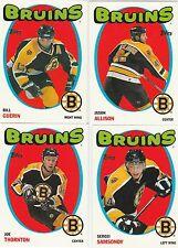 2001 2002 01/02 TOPPS....HERITAGE PARALLEL...BOSTON BRUINS...4 CARD TEAM SET