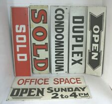 """NEW PRICE Yellow /& Black 6/""""x24/"""" REAL ESTATE RIDER SIGNS Buy 1 Get 1 FREE 2 Sided"""