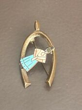 Mizpah Sweetheart Brooch Pin Vtg Antique Edwardian Souvenir Welsh Lady Wishbone