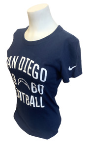 Nike Women's San Diego Chargers Football 1960 Navy Slim Fit Shirt Size X-Small
