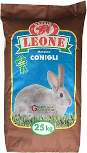 25800 MANGIME CONIGLI CICLO UNICO FATTORIA KG. 25 LEONE