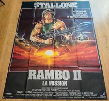 Affiche de cinéma : RAMBO II de GEORGE PAN COSMATOS