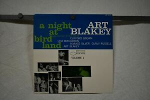 "ART BLAKEY A Night At Bird Land 1985 Blue Note promo poster flat 12""x12"" EX"