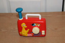 Vintage Big Bird Wind Up Radio Music Box Toy by ILLCO Sesame Street Muppets