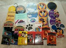 Huge Lot Of 27 Disney Buttons and key chain, fantasmic, mickey vacation club ...