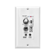 Pyle Bluetooth Receiver Wall Mount in-Wall Audio Control with Built-in Amplifier