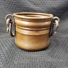 Vintage Hand Forged Copper Hanging Pot Planter