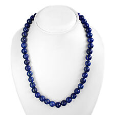 TOP CLASS 502.00 CTS NATURAL GOLD FLAKES BLUE LAPIS LAZULI BEADS NECKLACE STRAND