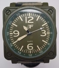 J Ferrar Men's Green Fabric Band Watch BROKEN SOLD AS IS!!!