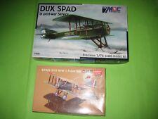 SPAD DUX BY MAC & SPAD XIII BY ACADEMY 1/72 SCALE - KOMBO SET