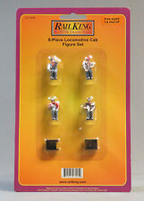 MTH RAIL KING 8 PIECE LOCOMOTIVE CAB FIGURE SET O GAUGE train man 30-11064 NEW